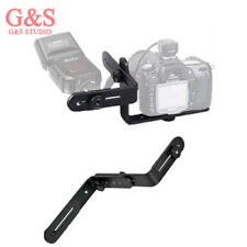 Double L-shaped Metal Bracket Holder Mount for Canon Camera Speedlite Flash