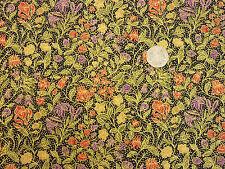 Tessuto Quilting William Morris Fiori Viola Rosso Nero BG ORO FQs | BKF13