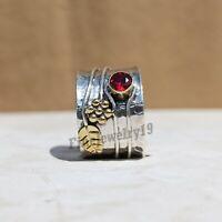 Garnet Ring 925 Sterling Silver Ring Band Ring Statement Ring  Handmade Ring Z31