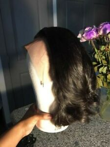 13x4 Raw Indian Lace Front Wig Straight Short Bob