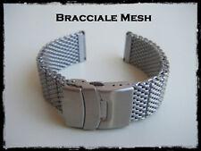 Bracciale Mesh maglia milano acciaio 20-22mm. Waterproof Mesh Shark Bracelet
