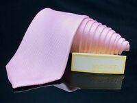 Michael Kors NEW Solid Pink Classic Mens Silk Necktie