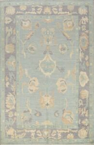 All-Over Authentic Oushak Vegetable Dye Turkish Muted Hand-knotted Area Rug 8x10