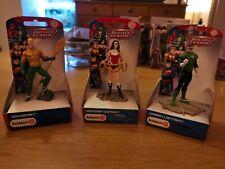 Schleich Justice League Figures - Green Lantern, Aquaman, Wonder Woman SEE NOTES