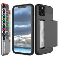 For iPhone 12/12 Pro/12 Mini/12 Pro Max Shockproof Card Holder Wallet Case Cover