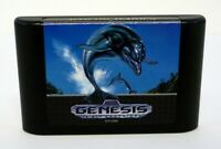 ECCO THE DOLPHIN Sega Genesis Game CLEANED & TESTED 1993