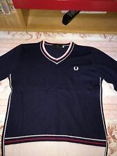 Fred Perry maglione scollo V, blu Taglia M/Fred Perry sweater v neck,navy size M