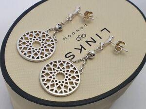 Links of London TIMELESS LARGE drop dangle earrings, genuine, new