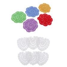 11 PCS Multicolor Handmade Crochet Cotton Lace Table Placemats Doilies