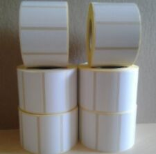 White Labels 5 Rolls Of 1000 Labels Per Roll 50 X 25 Mm