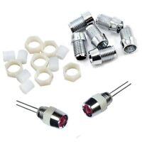 S822 - 50 Stück LED Fassungen für 5mm LEDs Kunststoff Fassung Halter Holder
