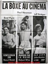 BOXE GENTLEMAN JIM / FAT CITY / MARQUE PAR LA HAINE Affiche Cinéma Movie Poster
