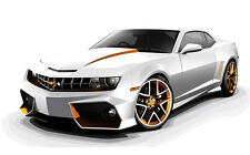 CHEVROLET CAMARO TUNING 2012 NEW A3 CANVAS GICLEE ART PRINT POSTER FRAMED