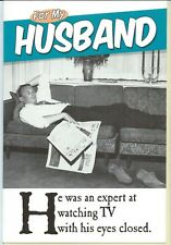 Husband birthday card  He Was an Expert at Watching TV With His Eyes Closed