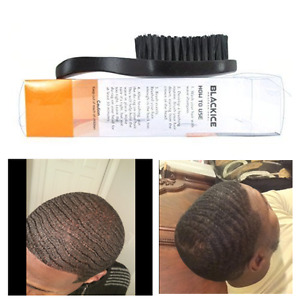 Black Ice Magic Wave Brush 7'' Curved Club Hard Premium Boar Shine in Your Hair