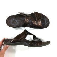 Vionic Lauren Two Strap Sandals Womens Size 9 Bronze Brown 44Lauren