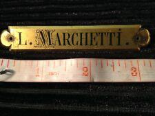 Original 19th C Ludovico Marchetti Artist NAMEPLATE Plaque