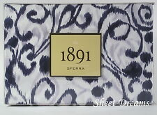 SFERRA 1891 Ironwork Cotton Sateen Purple Indigo Ikat King Duvet Shams Set
