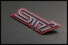 Carbon Red STI Rear Trunk Emblem Badge For Subaru Impreza WRX Legacy WRC GC8 GDB