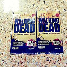 THE WALKING DEAD SEASON ONE TWO PACK LOT OF TRADING CARDS RARE AND HARD TO FIND