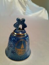 Vintage Blue Porcelain Bell Old North Church Boston, Mass Made in Denmark
