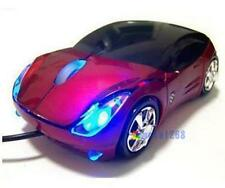 800DPI Optical Cool Red Car Shape USB 2.0 3D Optical Mouse Mice For PC Laptop WT