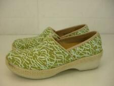Womens 7.5 8 38 Dansko Jute Pro Vegan Espadrille Clogs Comfort Green Shoes Wedge