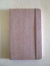 Faux Wood Journal, Diary, Note Book Lined Sheets Elastic Closure BN~Brown~