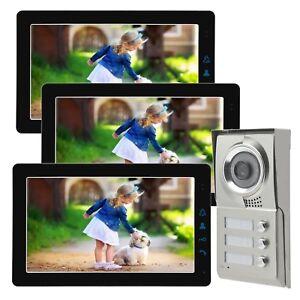 Familienhaus Gong Türsprechanlage Bildspeicher Video Klingel Kamera Nachtsicht
