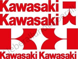 Kawasaki Motorrad Aufkleber Set 6tlg. Kawa Helm moto sticker decal 18 Farben