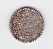 1941 25 Cents Netherlands Nederlanden Coin Y-198