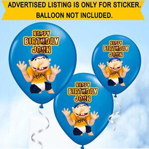Personalised Birthday Name Jeffy Youtuber Balloon Stickers