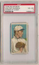 WALTER JOHNSON 1909-11 T206 Polar Bear Tobacco Hands at Chest PSA 4 VG-EX HOF