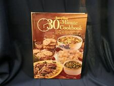 Taste of Home 30 Minute Cookbook quick recipes cook book hardcover vintage