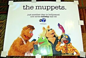 """HUGE 5 ft """"THE MUPPETS"""" Subway Poster, Unused, One Big Sticker Decal! 46"""" x 60"""""""