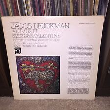 """RL"" M- Jacob Druckman Animus III Vinyl Charles Ives Henry Brant Iannis Xenakis"