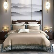 Luxury Egyptian Cotton Embroidery Bedding Set Two Size Bed Sheet Duvet Cover Set