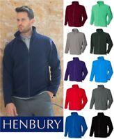 Henbury - Mens Micro Fleece Jacket - Full Zip - Various Colours - SIZES S-3XL