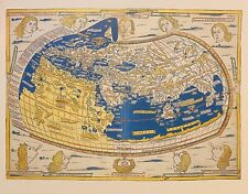 1482 Historic World Map Reproduction Ptolemy Geographia