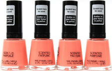 4 Revlon Premium Scented Perfume Nail Enamel Polish Strawberry Cream Pink Color