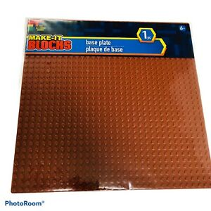 MAKE-IT BLOCKS BROWN 10x10 32x32 Stud Fits Brick Brands Base Plate Baseplate NEW