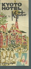 NB-031 - Kyoto Hotel, Guide to Kyoto Japan, Vintage Travel Leaflet 1950's-60's