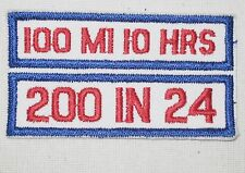 Running Patch - 100 Mi 10 Hrs 200 In 24 - vintage