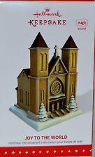 2015 HALLMARK - JOY TO THE WORLD - CHURCH - MAGIC FEATURES SOUND  - MINT IN BOX