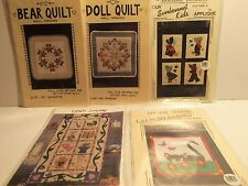 Lot of 5 Assorted Quilted Craft Patterns