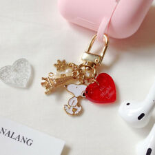 Heart Snoopy Keyring + Airpods Silicon Case Set Key Holder Key Chains Apple