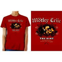 Motley Crue The Dirt Officially Licensed Red Tee Adult XL T-Shirt (NEW)