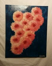 "Original signed abstract art. ""Pink Peonies"""