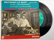EP Johnny Hallyday retiens la nuit 45T BIEM 432739BE + languette Bon état