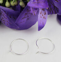 100PCS Wine glass charm wire hoops earring wires findings